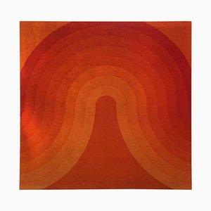 Pannello Wave in velluto di Verner Panton per Mira-X, anni '70