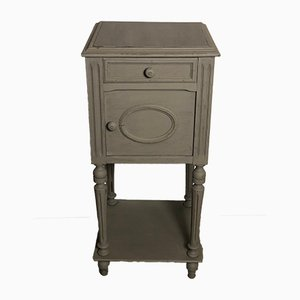 Vintage Gustavian Style French Wooden Nightstand, 1940s