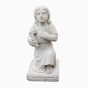Escultura francesa antigua de piedra