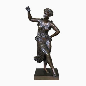 Mid-Century French Bronze Dancer Sculpture by Dumaige Henry Etienne, 1950s