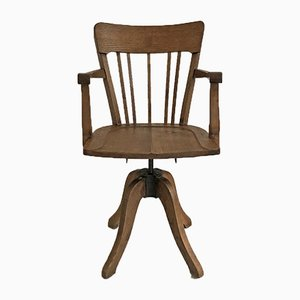 Mid-Century Oak Office Chair, 1950s