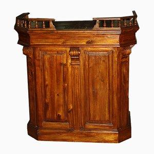 Mesa de bar francesa vintage de madera, años 80