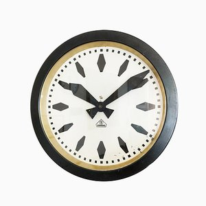 Industrial Bauhaus German Factory Clock by Siemens & Halske, 1930s