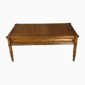 Vintage French Walnut Coffee Table, 1980s