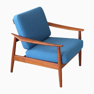 Mid-Century Danish Teak Lounge Chair by Arne Vodder for France & Søn
