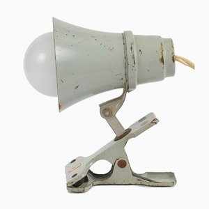 Grey Clamp Lamp from Philips, 1950s
