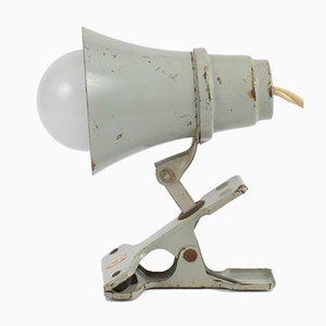 Lampada a morsetto grigia di Philips, anni '50
