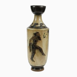 Hand-Crafted Stoneware Vase by Roger Guerin, 1930s