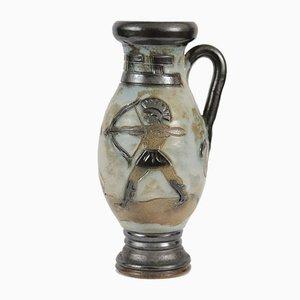 Vase Artisanal en Grès par Roger Guerin, 1930s