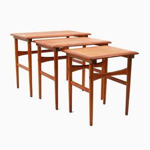 Tables Gigognes Mid-Century en Teck, Danemark, 1960s