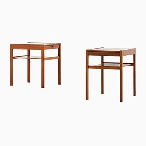Dixi Nightstands by Gunnar Myrstrand and Sven Engström for Tingströms, 1950s, Set of 2