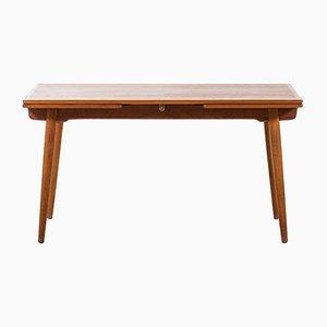 Tavolo da pranzo AT-312 in quercia e teak di Hans Wegner per Andreas Tuck, anni '50