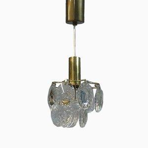 Kleine Deckenlampe aus Kristallglas , 1950er