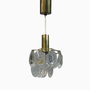 Lámpara de araña pequeña de cristal, años 50