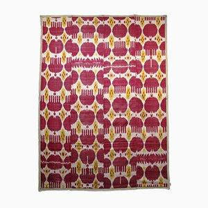 Antique Uzbek Silk Ikat Panel