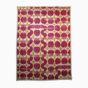 Tapiz Ikat sueco antiguo de seda