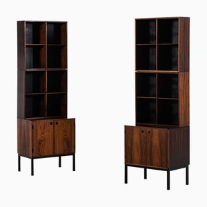 Rosewood Bookcase Cabinets by Hans Hove & Palle Petersen for Christian Linneberg, 1960s, Set of 2
