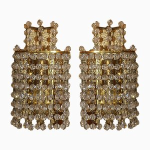 Brass and Crystal Sconces by J. & L. Lobmeyr, 1960s, Set of 2