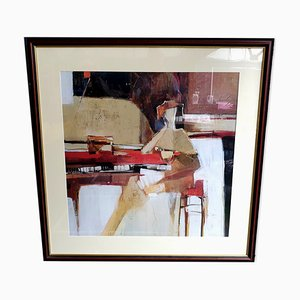 Large At The Keyboard Framed Print by Yuri Tremler, 1990s