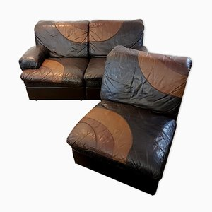 Sectional Leather Sofa from UBU, 1970s