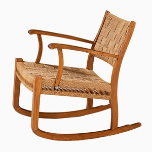 Vintage Danish Rocking Chair, 1940s