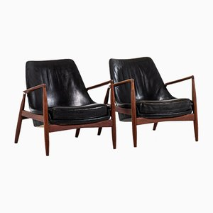 Seal Easy Chairs by Ib Kofod-Larsen for OPE, 1950s, Set of 2