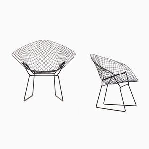 Poltronas Diamond de Harry Bertoia para Knoll International, años 50. Juego de 2
