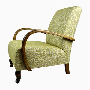 Art Deco Style German Yellow Armchair, 1960s