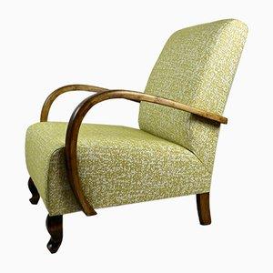 Gelber deutscher Sessel im Art Deco-Stil, 1960er