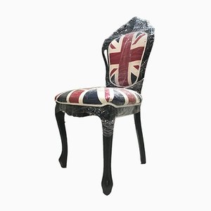 Vintage Italian Union Jack Dining Chair, 1980s