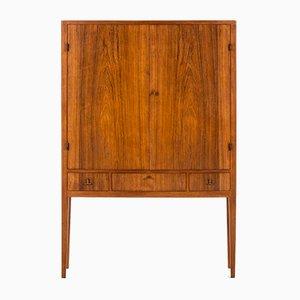 Mueble escandinavo Mid-Century moderno de latón y caoba, 1962