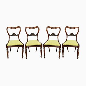 Antique Regency Rosewood Dining Chairs, Set of 4