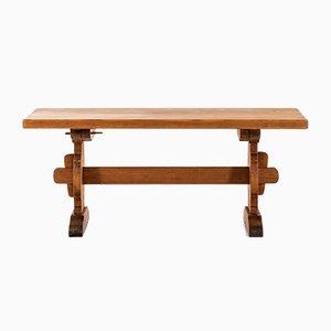 Moderner skandinavischer Esstisch aus Kiefernholz, 1950er