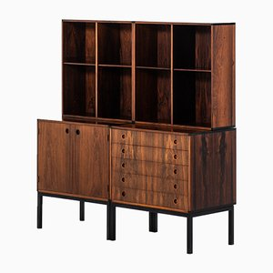 Scandinavian Modern Danish Metal and Rosewood Sideboard by Hans Hove & Palle Petersen, 1960s