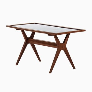 Scandinavian Modern Oak Coffee Table by Stig Lindberg, 1950s