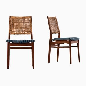 Danish Teak OS 2 Dining Chairs by Helge Sibast, 1962, Set of 8