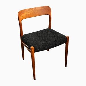 No. 75 Esszimmerstühle aus Teak von Niels Otto Møller für J.L. Møllers, 1960er, 2er Set