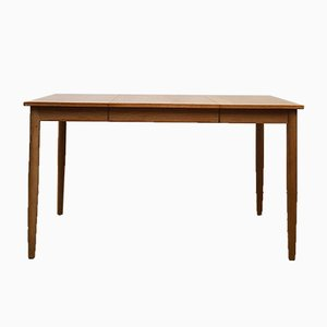Mid-Century Danish Extendable Oak Dining Table, 1960s