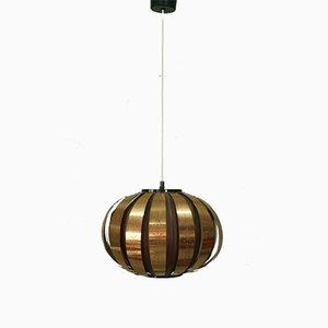 Lámpara colgante danesa de Werner Schou para Coronell Elektro, años 60