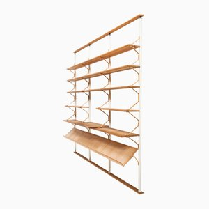 Scandinavian Modern Birch and Steel Bookcase by Bruno Mathsson for Karl Mathsson, 1960s