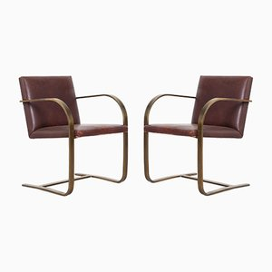 Modernist Brno Chairs by Ludwig Mies van der Rohe for Brueton, 1970s, Set of 2