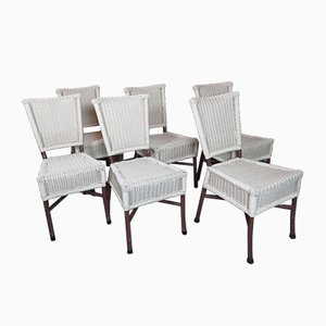French Aluminum & Plastic Dining Chairs, 1980s, Set of 6