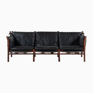 Scandinavian Modern Beech and Brass Ilona Sofa by Arne Norell, 1960s
