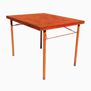 Mid-Century Industrial French Folding Table, 1950s