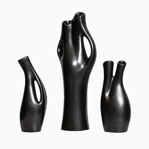 Mangania Vase Set by Lillemor Mannerheim for Upsala Ekeby, 1950s