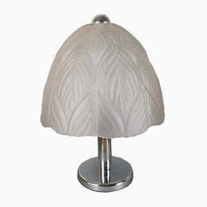 German Chrome & Cut Glass Table Lamp from Peill & Putzler, 1960s