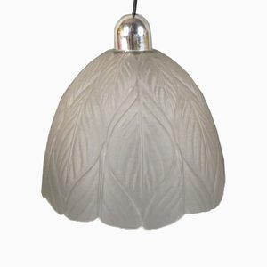 Lámpara de techo alemana de vidrio tallado de Peill & Putzler, años 60