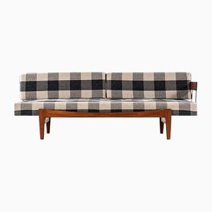 Scandinavian Modern Fabric and Steel Sofa by Ib Kofod-Larsen, 1960s
