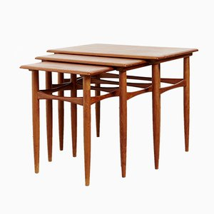 Danish Teak Nesting Tables by Kai Kristiansen for Skovmand & Andersen, 1960s