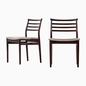 Danish Fabric and Rosewood Dining Chairs by Erling Torvits for Sorø Stolefabrik, 1960s, Set of 8